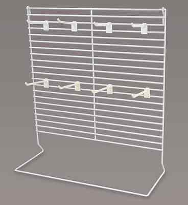 Counter Peg Display Rack - Large 24 Plastic Peg 4 Long White