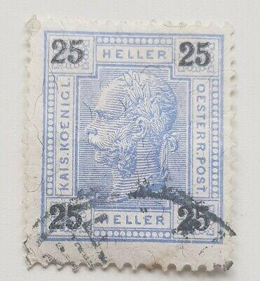 Austrian , Stamp 25 Heller 1904 , Autriche Impériale A53 , Franz Josef Bar. Used