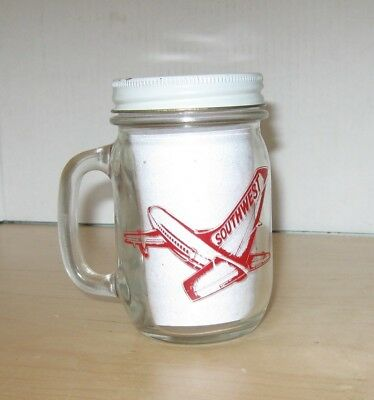 Southwest Airlines Love Field Dallas Airport Glass Mug Bank  Vintage