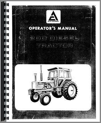 Allis Chalmers 200 Tractor Operators Manual