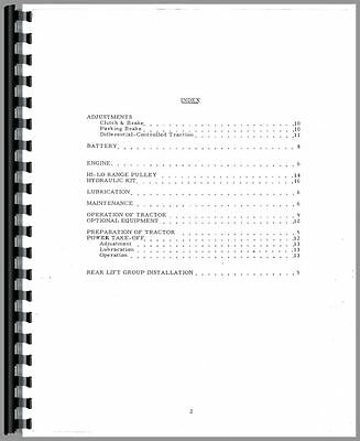 Allis Chalmers Big Ten Lawn Garden Tractor Operators Manual