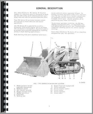 Allis Chalmers Hd7g B Crawler Operators Manual Sn 27201-27950