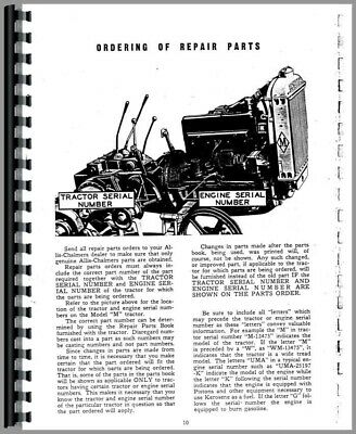 Service Manual Allis Chalmers M Crawler
