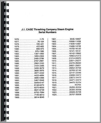 Operators Manual 1924 Case Steam Tractor