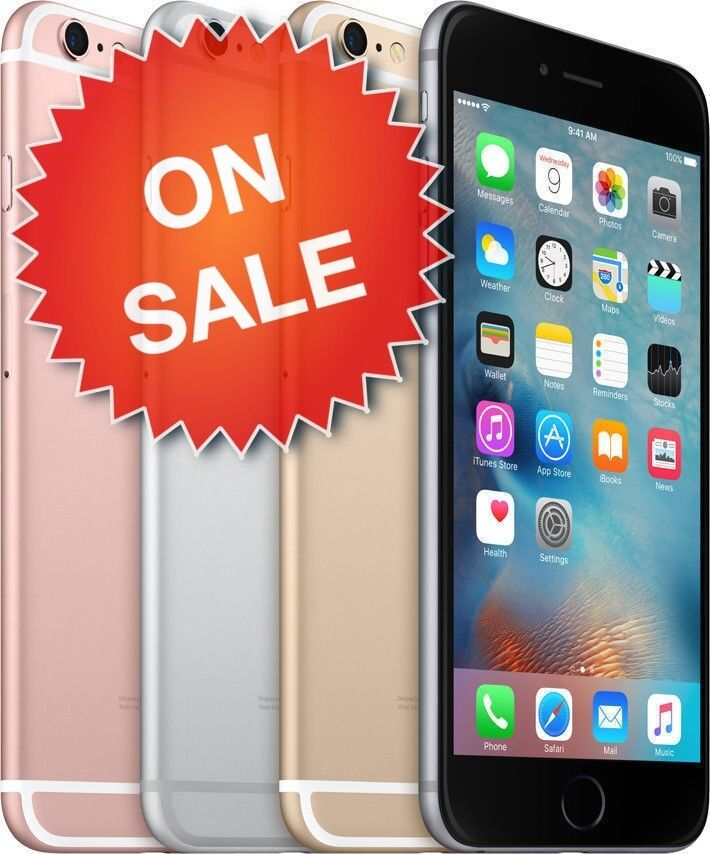 Apple iPhone 6S (Factory Unlocked) Verizon AT&T T-Mobile Sprint 16GB 64GB 128GB