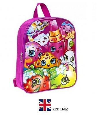 SHOPKINS SCHOOL BACKPACK Kids Girls Book Bag Sports Birthday Christmas Gift UK