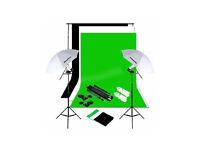 photography umbrella lighting backdrop