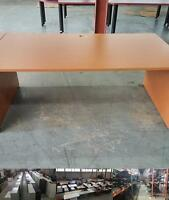 6ft Honey Brown Straight Desk