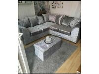 Crushed velvet sofa for sale