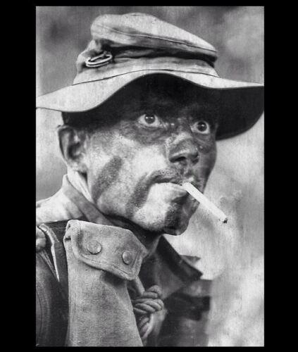 Vietnam War US Army Ranger PHOTO Smoking Cigarette THOUSAND YARD STARE