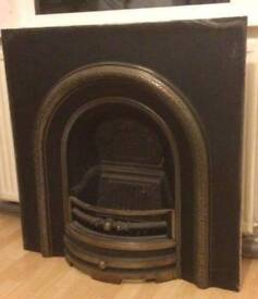 Cast iron fire insert 95cm wide x 95cm heigh