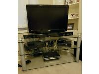 Glass Corner Television Stand