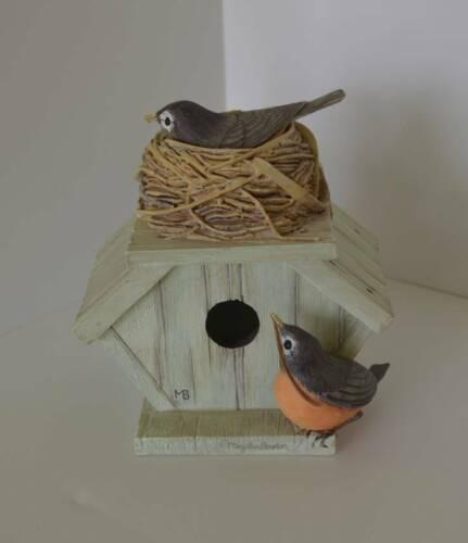 Hallmark's Marjolein Bastin Nature's Sketchbook Robin's Birdhouse Trinket Box