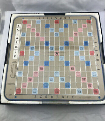 Vintage 1977 Scrabble Deluxe Turntable Edition Crossword Game 100% COMPLETE