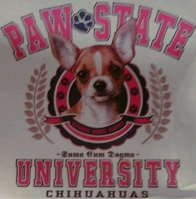 PAW STATE UNIVERSITY DOG BREEDS CHIHUAHUA SHIRT Paw Dog Shirt