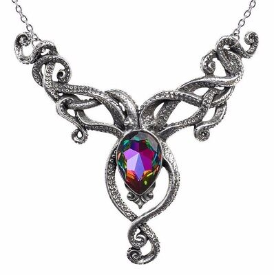 Dramatic Gorgeous Kraken Necklace Squid Octopus Tentacles Alchemy Gothic P818