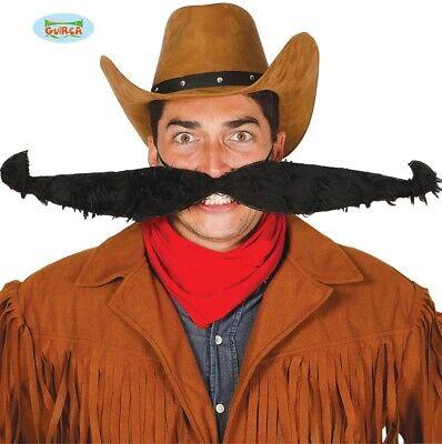 Comedy Kostüm Schnurrbart Neuheit 55cm Cowboy Schnurrbart mit - Kostüme Mit Schnurrbart