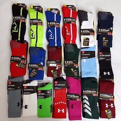 UNDER ARMOUR MEN'S HEATGEAR 1 PAIR SOCKS, SIZE: MD, LG & XL NWT