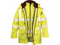 BRAND NEW 100% WATERPROOF BREATHABLE JACKETS WITH INTERNAL BODYWARMER SIZE EX LARGE