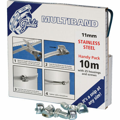 Jubilee Mb1806 11Mmx10M Stainless Steel Band Dispenser Inc Screws and Housing