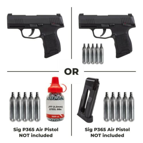 Sig Sauer P365 CO2 Blowback BB Air Pistol Bundle or Sig P365 Only or Ammo Only