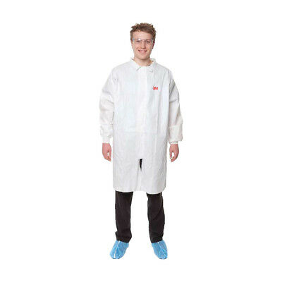 3M 4440 Lab Coat With Zipper White (2Xl)