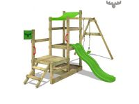 Brand New - RabbitRally Racer XXL Fat Moose Climbing frame, swing and slide set