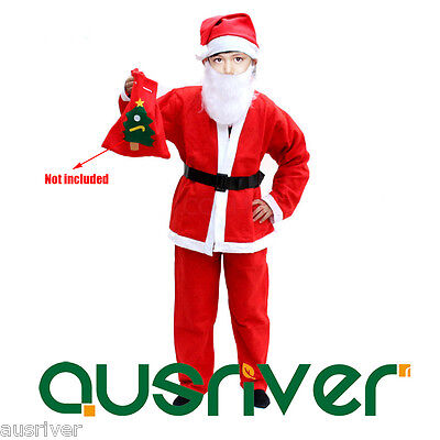 Cheap Non-woven Fabric Red Christmas Santa Claus Costume Suit Outfit Xmas - Cheap Santa Hats