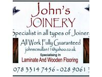 Experienced Joiner and Wooden Laminated floor fitter