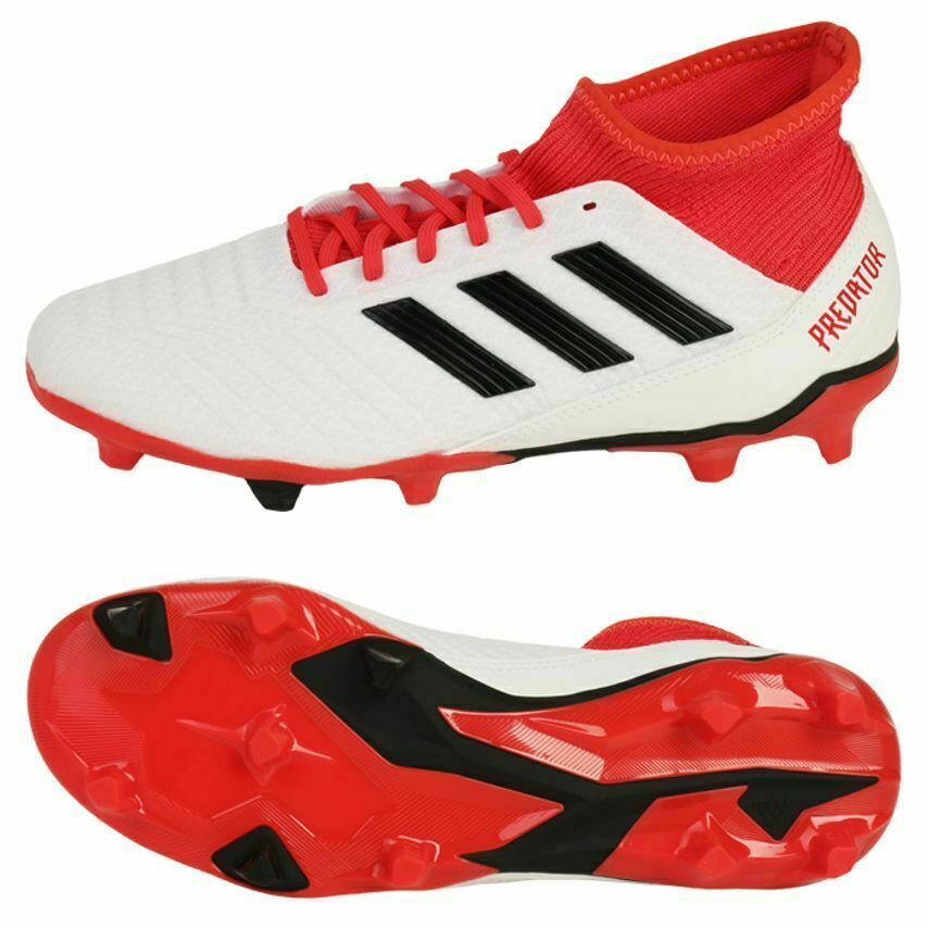 Adidas Predator 18.3 FG Firm Ground Soccer Cleats White Red