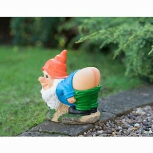 Solar Mooning Garden Gnome- Orange -Add some fun and light into garden