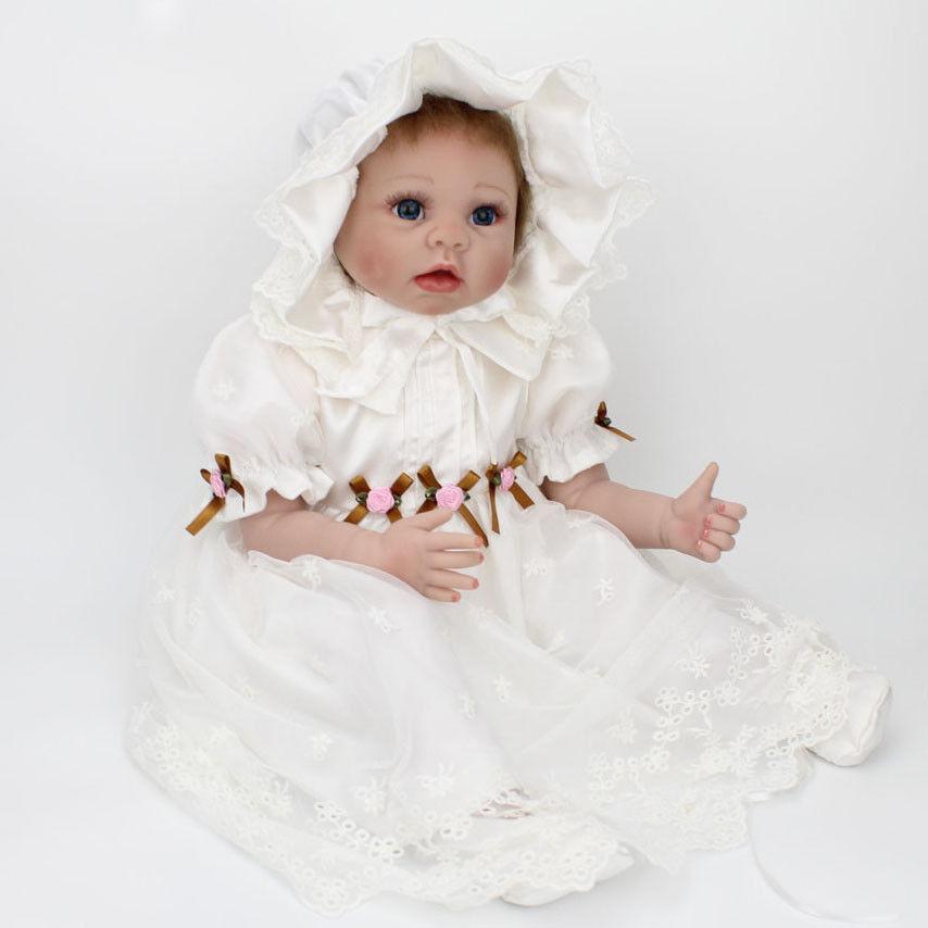 22'' Reborn Doll Baby Girl Newborn Baby Dolls Realistic Vinyl Silicone Toys Gift