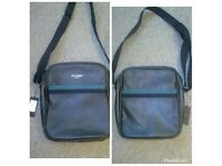 NEW WITH TAGS TED BAKER leather look shoulder bag strap core Web flight bag rrp 49-69 I sell £25
