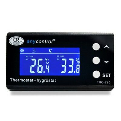 Thc-220 Digital Temperature And Humidity Controller Regulator Hygrothermostat