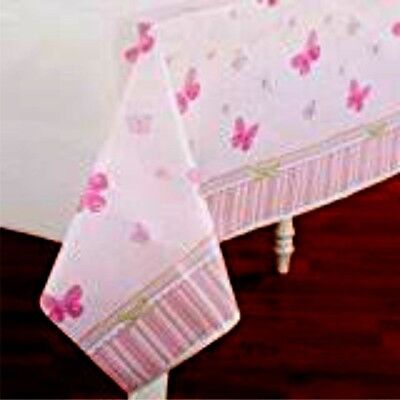 CARTER'S BABY GIRL Plastic Tablecloth Baby Shower Butterfly Party Supply   7-10B