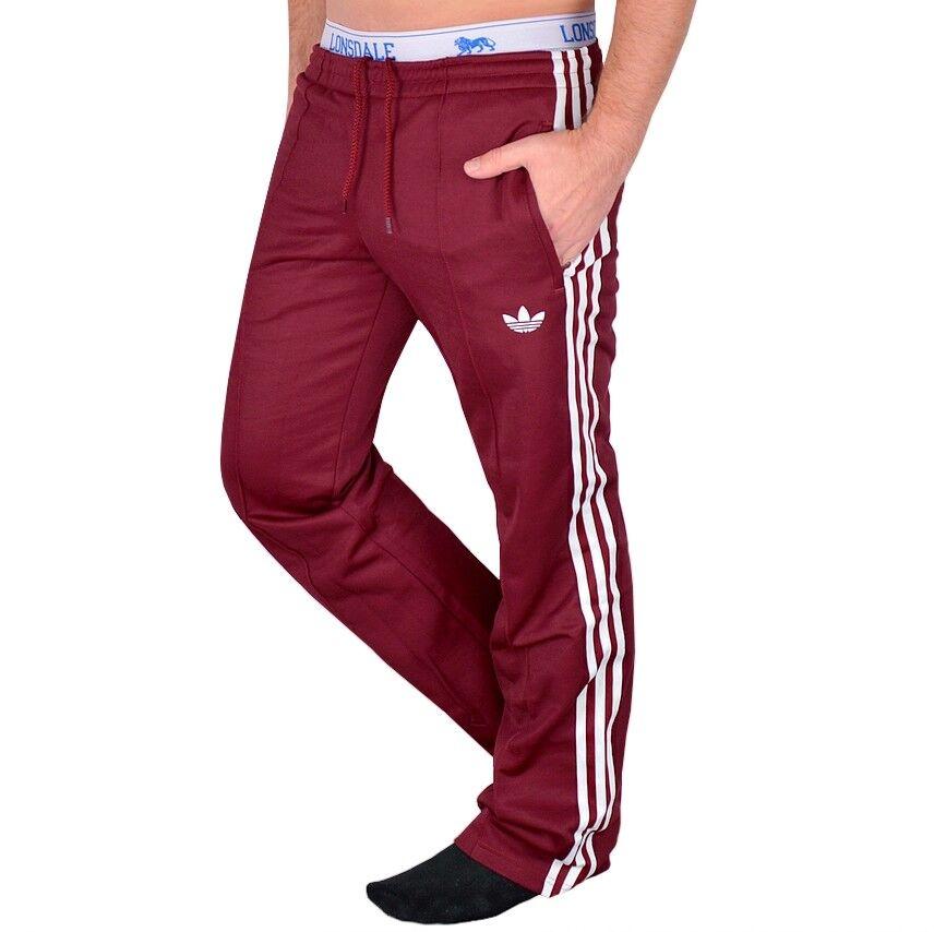 fa4a27b65e0b00 Adidas Beckenbauer Herren Trainingshose Jogging Hose Firebird Pant retro  weinrot