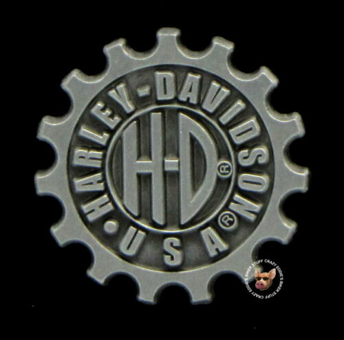 HARLEY DAVIDSON USA GEARS PIN * DISCONTINUED * BIKER JACKET VEST MOTORCYCLE PIN