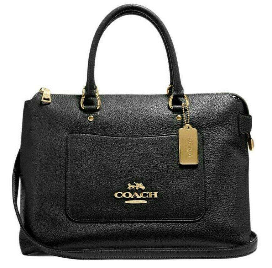 new 31467 emma pebble leather satchel handbag