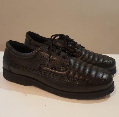 Clifford James Mens Boys Black Leather Lace Up Shoes Size UK 6