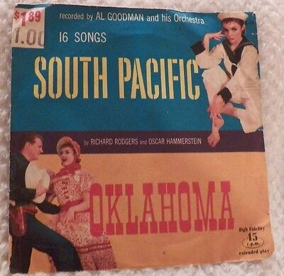South Pacific Songs (South Pacific & Oklahoma by Rogers & Hammerstein Record 45 rpm 16 Songs )