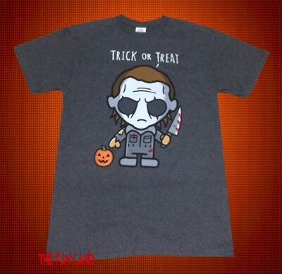 New Halloween Trick or Treat Michael Myers Movie Mens Vintage Classic T-shirt - Halloween Movie Treats