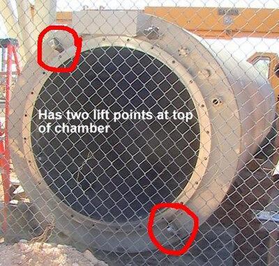 240cf 316 Stainless Steel Cryogenic Vacuum Chamber 4.2x17.5 Pressure Vessel