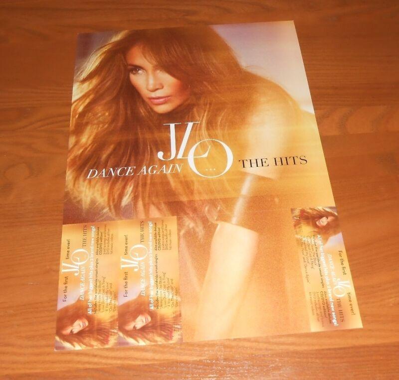 Jennifer Lopez Dance Again The Hits JLO 2-Sided Flat Promo 2012 Poster 12x18
