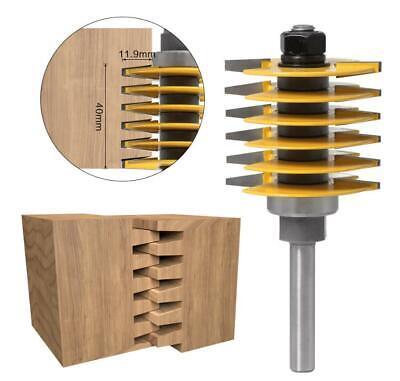 D=46mm Profilverleimfräser Schaft 8mm für Fingerzinken Holzfräser Oberfräse FR12