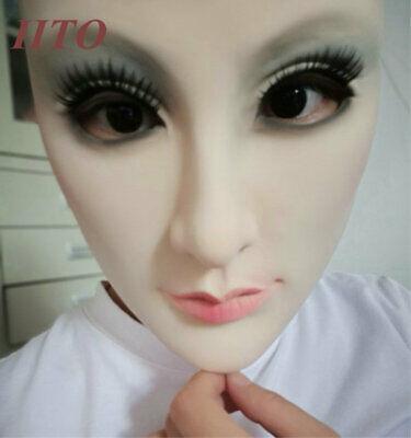 Silica gel Female Mask Halloween costumes performance Half A Face ](Halloween Performance)