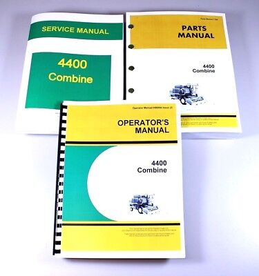 John Deere 4400 Combine Service Manual Set Operators Parts Repair Shop Books Gas