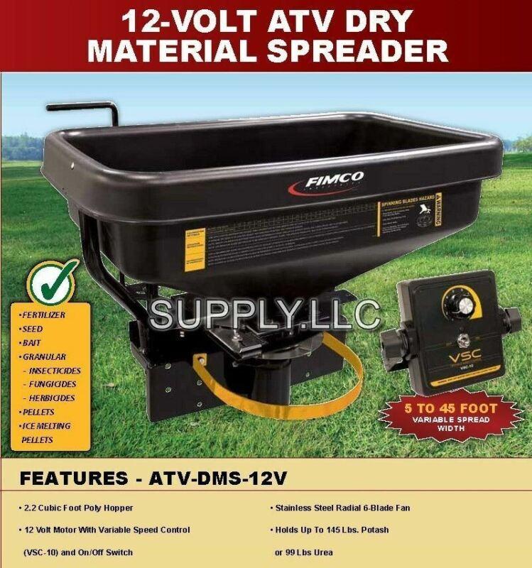 Fimco 12V Dry Material Broadcast Spreader Fertilizer Seed Bait (ATV-DMS-12V)