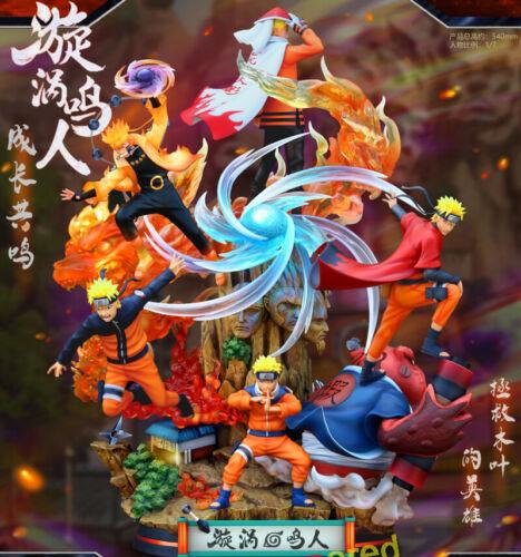 Crescent-Studio Naruto Uzumaki Naruto Resin Statue Painted 1/4 Anime Led Figure