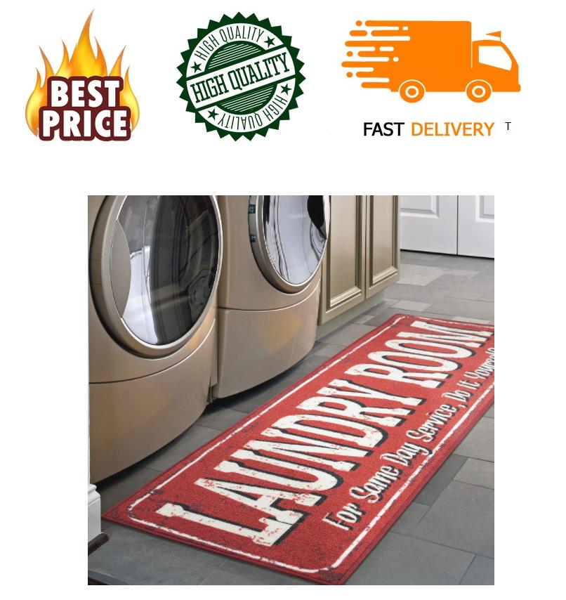 Laundry Room Rug Runner Mat Farmhouse Country Oval Bath Char