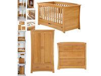 Mama & Papas Ocean cot / cot bed and drawers